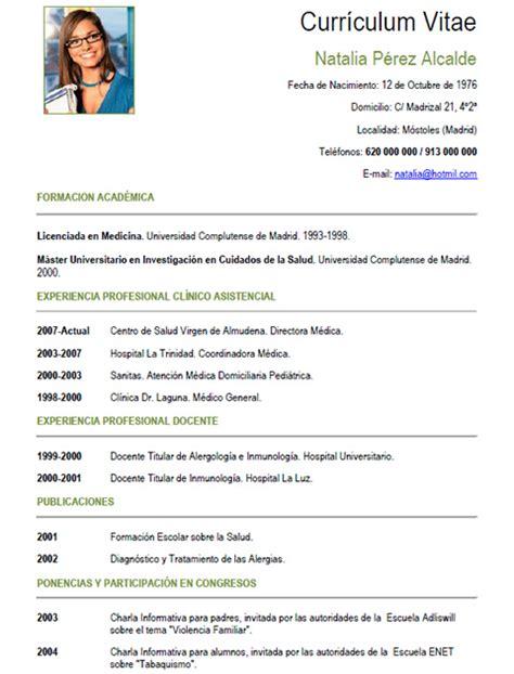 curriculum sanidad medico 010 | cvExpres