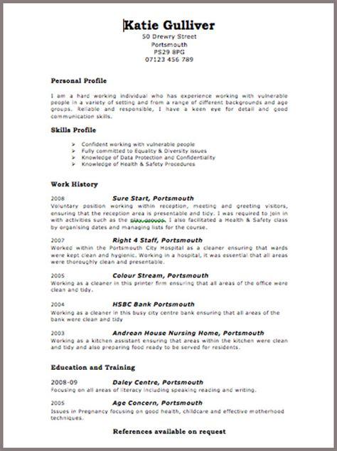 Curriculum Vitae: Curriculum Vitae Format To Download