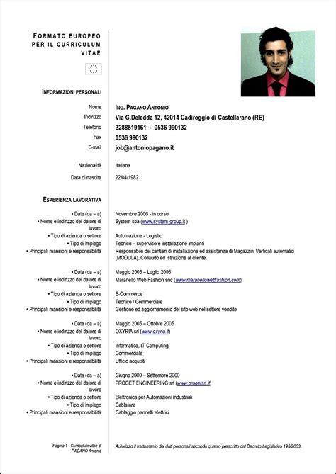 Curriculum Vitae Formato Gratis - Free Samples , Examples ...