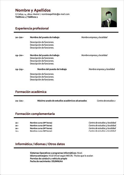 Curriculum Vitae Formato Para Llenar - Free Samples ...