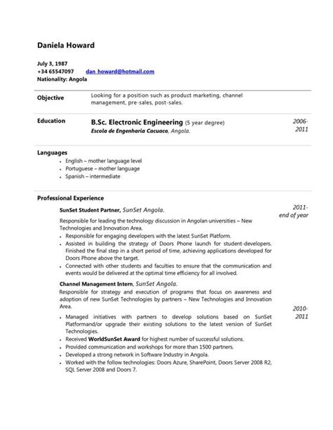 Curriculum Vitae Para Descargar En Word Ejemplos Y Modelos ...