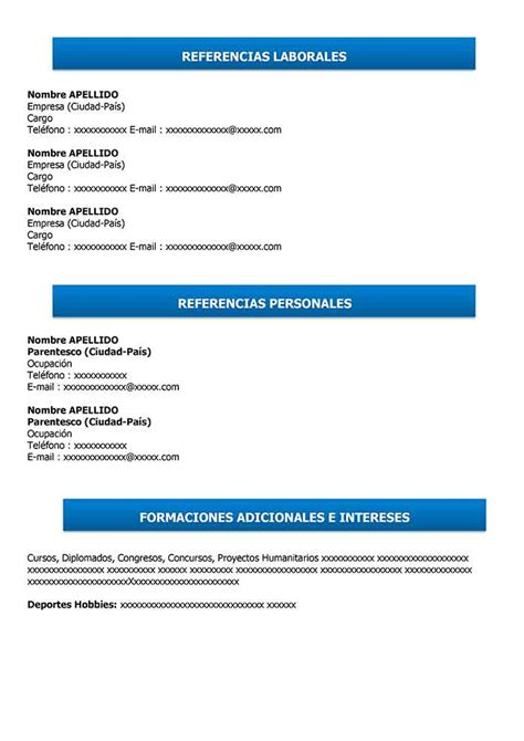 Curriculum Vitae Simple para Completar e Imprimir | Modelo CV
