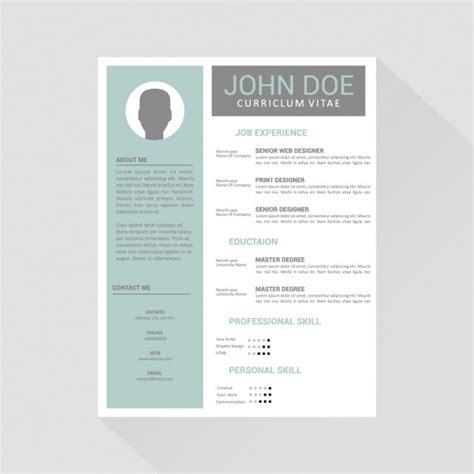 Curriculum vitae template design Vector   Free Download