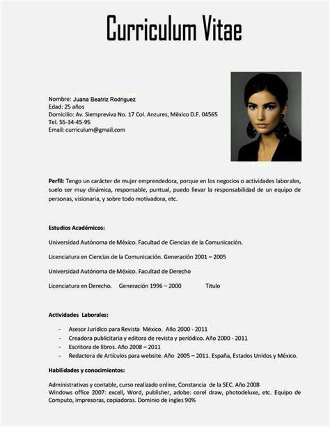 Curriculum Vitae Template En Espanol Curriculum Vitae ...