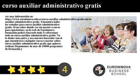 curso auxiliar administrativo gratis   YouTube