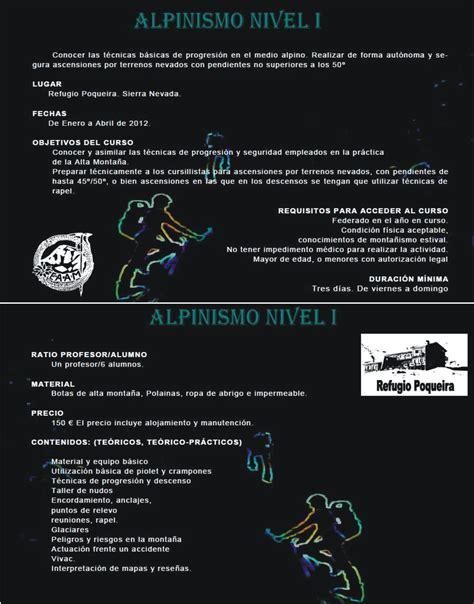 Curso de Alpinismo Nivel I EAAM « Refugio Poqueira ...
