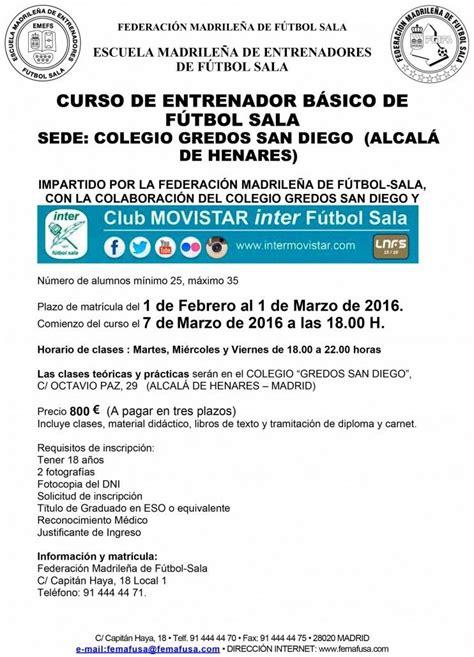 Curso de Entrenador Básico de Fútbol Sala | Información ...