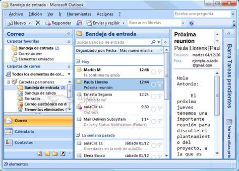 Curso de Microsoft Outlook 2007 gratis. 5 - Recibir y ...