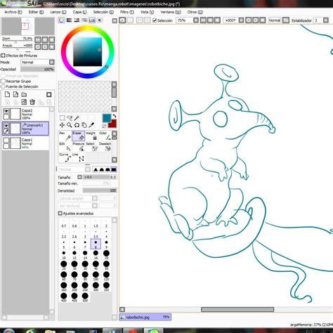 Curso gratis de Dibujar Manga Robot   Dibujo en Paint tool ...