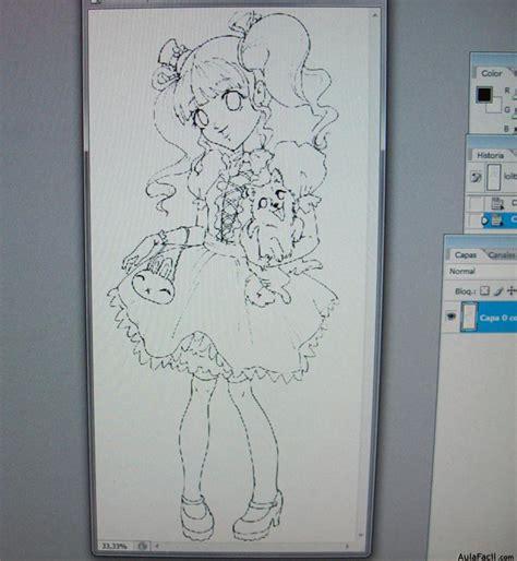 Curso gratis de Dibujar Sweet Lolita   Colorear con ...