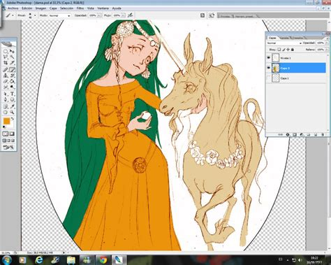 Curso gratis de Manga Dama Unicornio   Colorear con ...