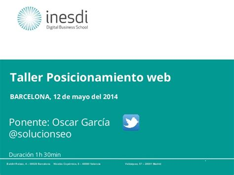 Curso posicionamiento web Barcelona | Taller SEO
