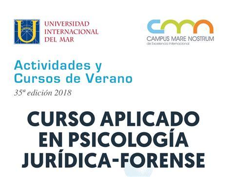 Curso sobre Psicología Jurídica y Forense en la Unimar ...