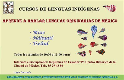 Cursos de Lenguas Indígenas
