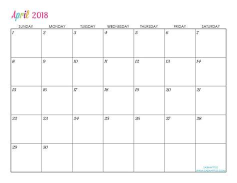 Custom Editable Free Printable 2018 Calendars   Sarah Titus