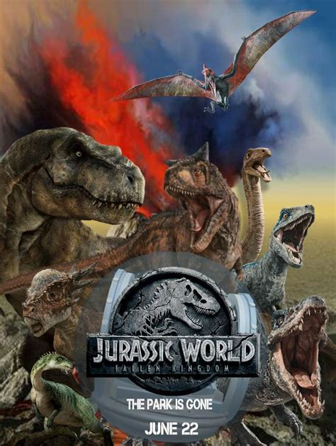 Custom Jurassic World Fallen Kingdom Poster | Jurassic ...