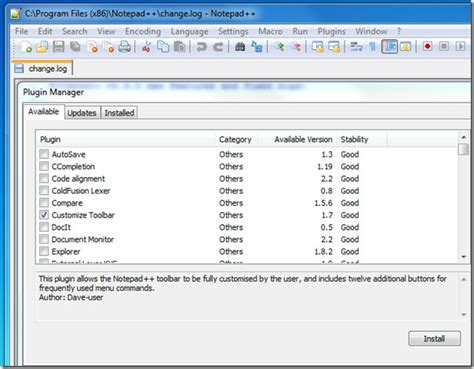 Customize Toolbar: Notepad++ Plugin To Add And Delete ...