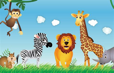 Cute Animals Kids Wallpaper Mural | Muralswallpaper.co.uk