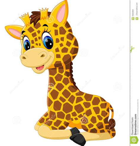 Cute Baby Giraffes Cartoon