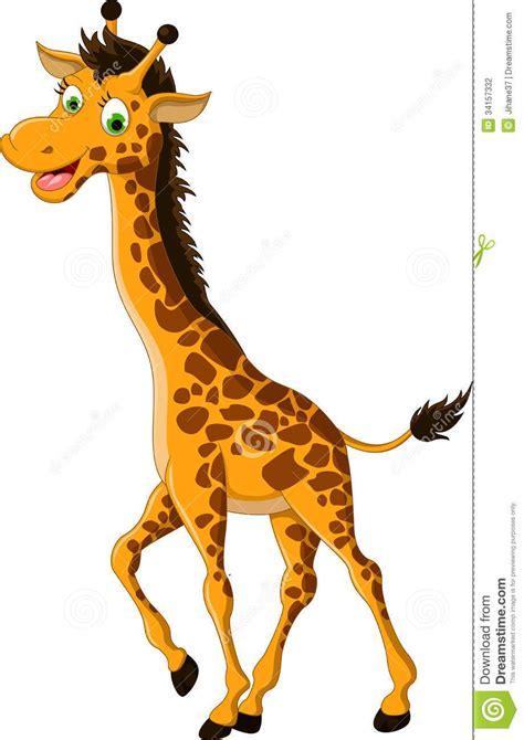 Cute Giraffe Cartoon Smiling Stock Photography - Image ...