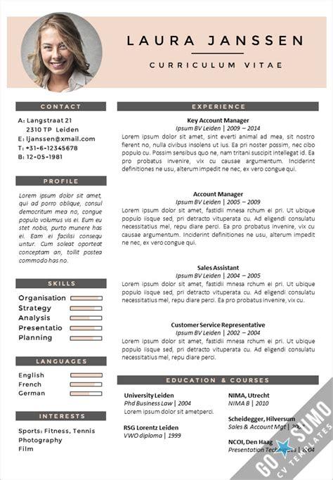 CV Template Milan - Go Sumo CV Template