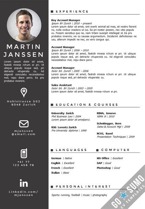 CV Template Zurich