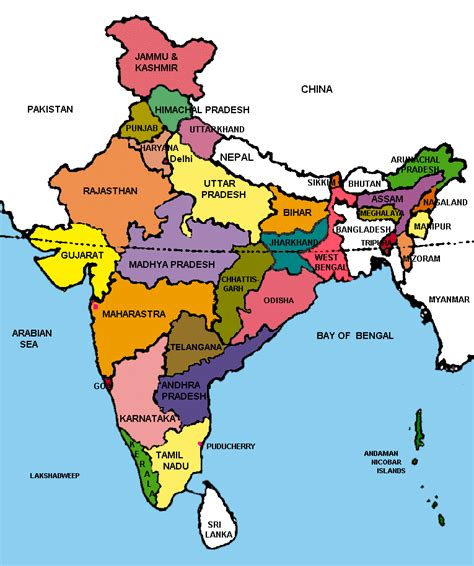 Cyber Resources for Journalists: Political map of India