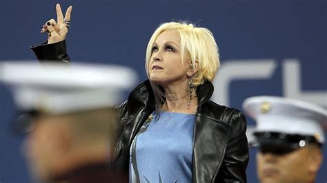 Cyndi Lauper messes up US national anthem at 9/11 tribute ...