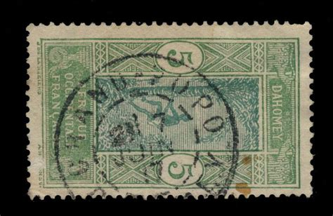 DAHOMEY   1917   CAD DOUBLE CERCLE GRAND POPO / DAHOMEY ...