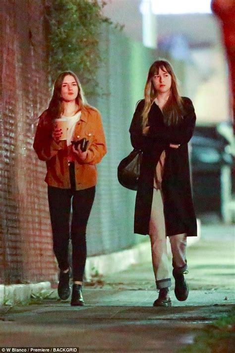 Dakota Johnson dines in LA with sister Stella Banderas ...
