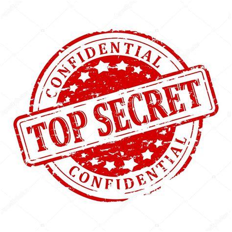 Damaged Seal   Top Secret   Confidential — Stock Photo ...