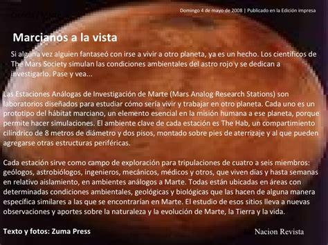 Datos sobre Marte - Bartolini