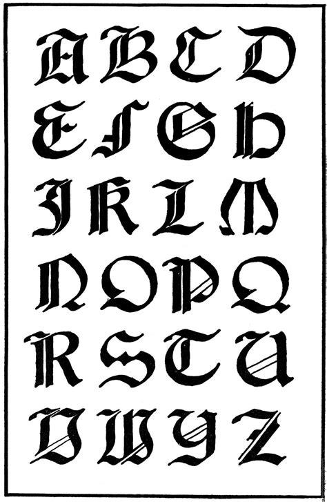 de letras goticas coloring pages