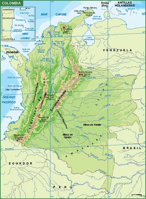 /de tag mapa de Colombia