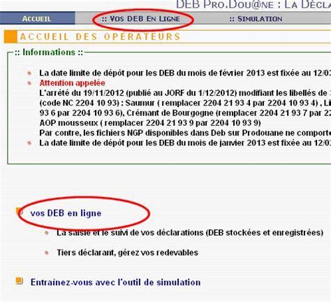 DEB sur Prodouane - Blog utilisateurs Prodouane