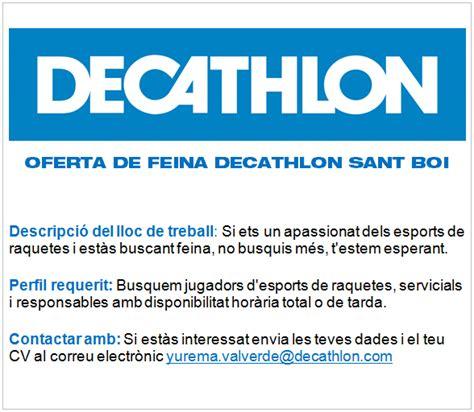 Decathlon oferta de feina – Federació Catalana de Tennis