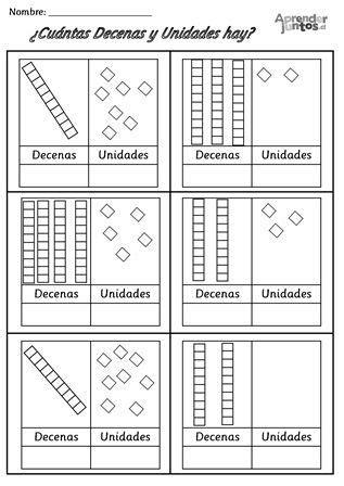 Decenas y Unidades | PEDAGOGICOS | Pinterest | Decenas ...