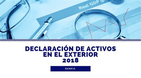 Declaración de activos en el exterior 2018 - Rankia