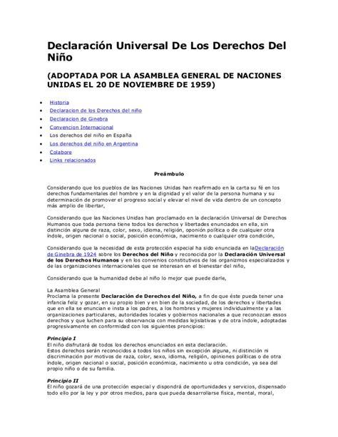 Declaración de Ginebra y Declaración Universal de los ...