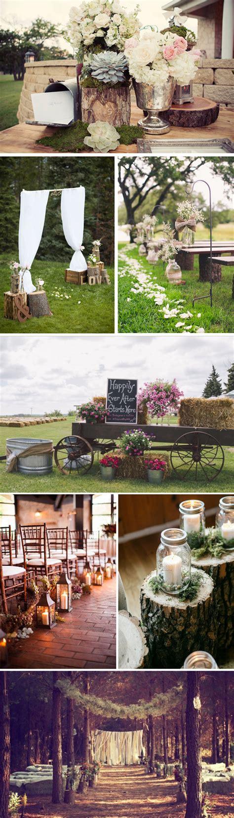 Decoración bodas rústicas. Decoración de bodas en el campo
