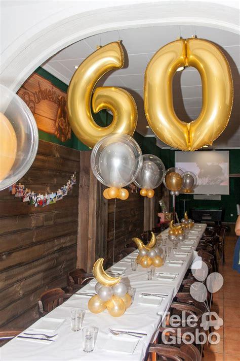 Decoración con globos para 60 cumpleaños | Decoraciones ...