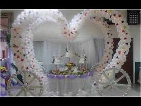DECORACION CON GLOBOS PARA BODAS - YouTube