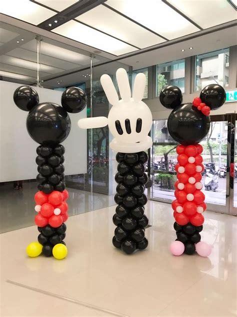 Decoracion con globos para fiesta de mickey mouse  7