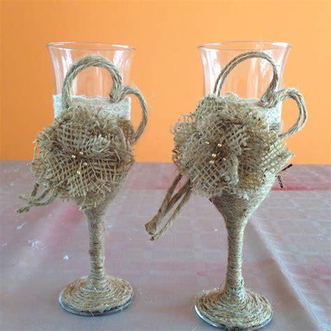 Decoración copas estilo vintage para bodas Vintage style ...