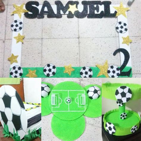 Decoracion de fiesta de niño motivo futbol | Soccer ...