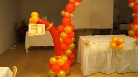 decoracion de fiesta para adulto 50 años - YouTube