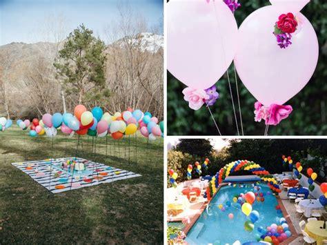 Decoración de fiestas al aire libre