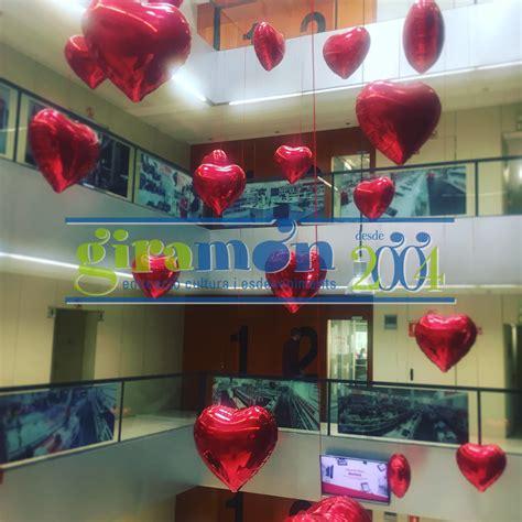 Decoración de globos corazón de foil - Giramón : Giramón