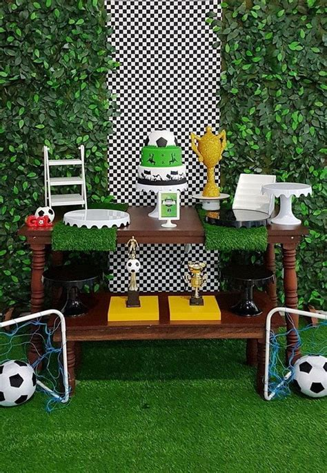 decoracion de una fiesta tematica de futbol infantil ...