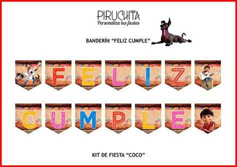 Decoración fiesta de cumpleaños Coco para imprimir – Piruchita